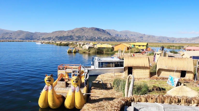 peru expeditions in floating island of lake titicaca