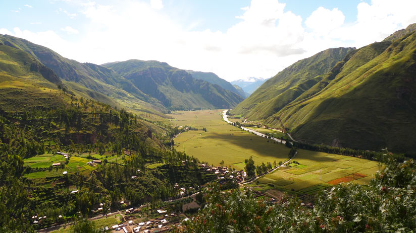 view of sacred valley with the peru private tours