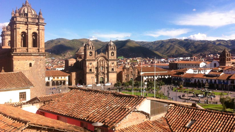 main square of cusco in your vacactions in peru
