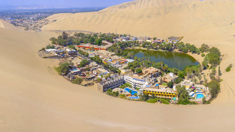 know huacachina oasis in your vacations in peru