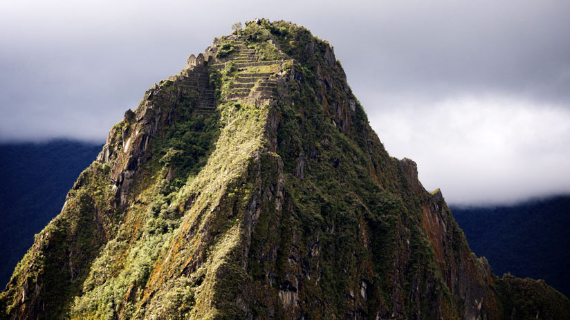 the ruins of machu picchu, mountain huayna picchu