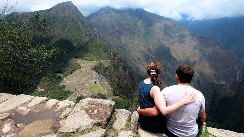 the ruins of machu picchu and view from huayna picchu