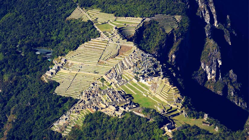 view of all machu picchu citadel