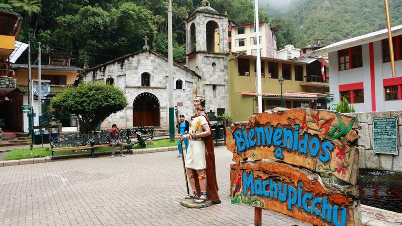 aguas calientes is a town before machu picchu mountain
