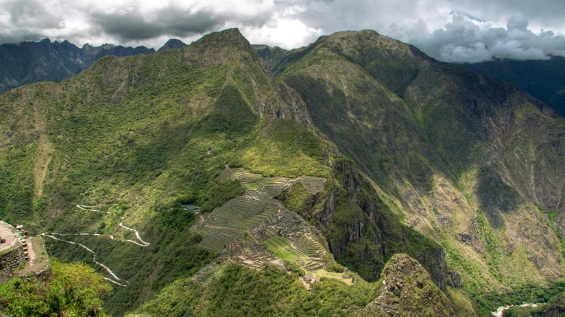 photo of machu picchu mountain from huayna picchu
