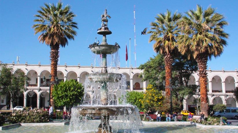colca canyon arequipa main square plaza de armas