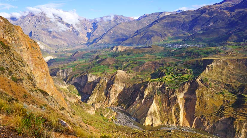colca canyon view from above