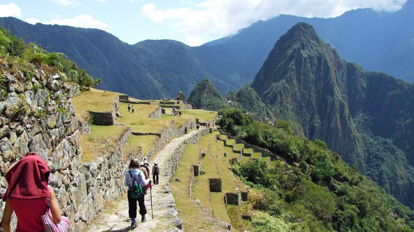 peru machu picchu hike inca trail end