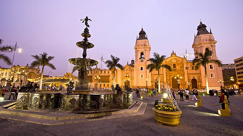 planning a trip to peru main square lima