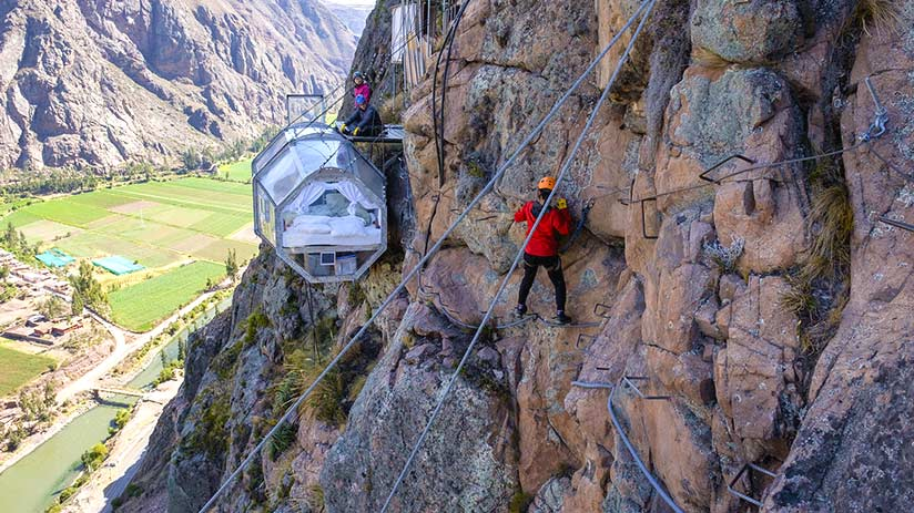 sacred valley peru skylodge via ferrata