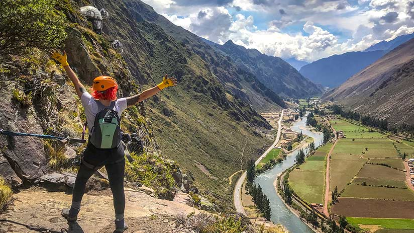 zip line sacred valley view