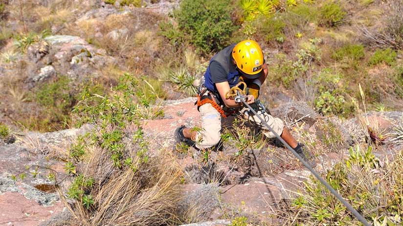 adventure sports in the sacred valley rock climbing