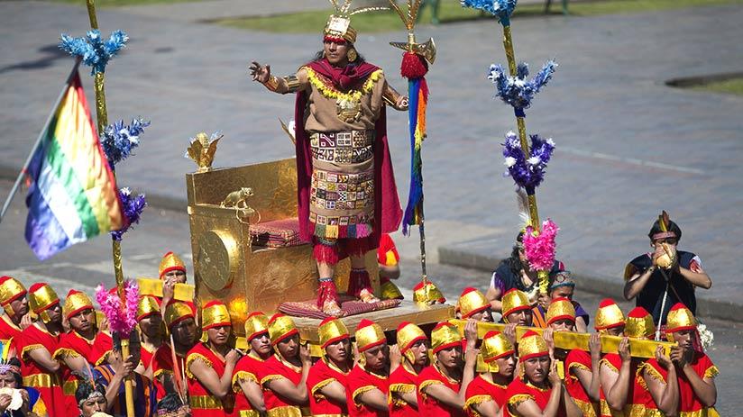 inti raymi golden chariot