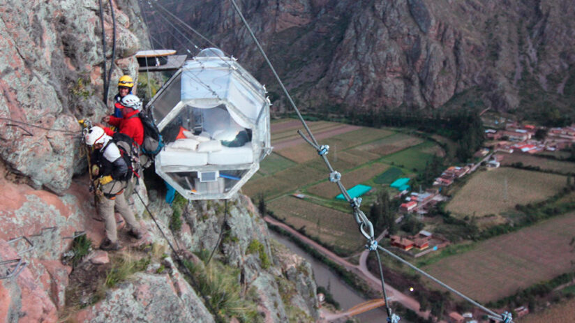 adventure sports skylodge in the sacred valley