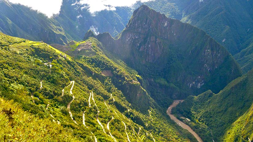 walking the inca trail landscape