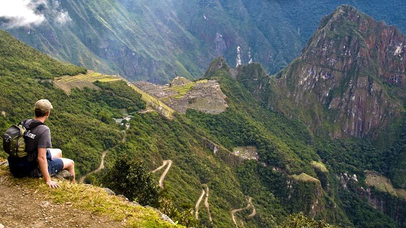 walking the inca trail view