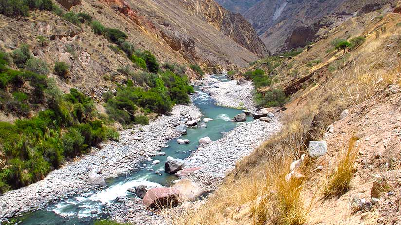 colca canyon rafting river