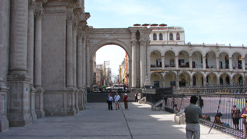 adventure travel for young adults arequipa white city