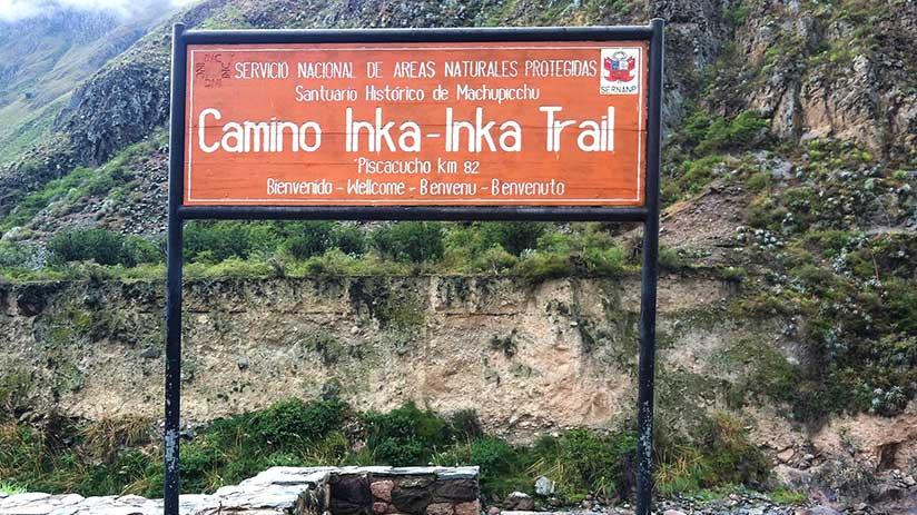 inca trail to machu picchu first day km 82