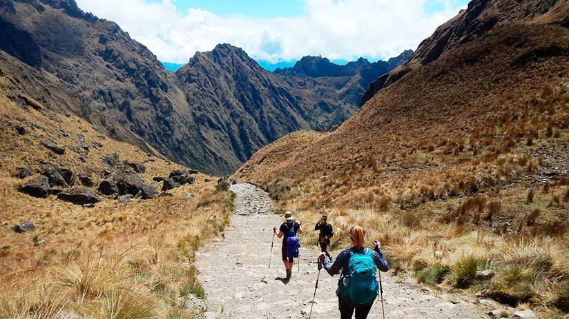 inca trail to machu picchu second day