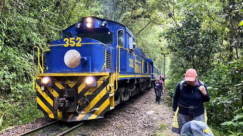 train to machu picchu or hike