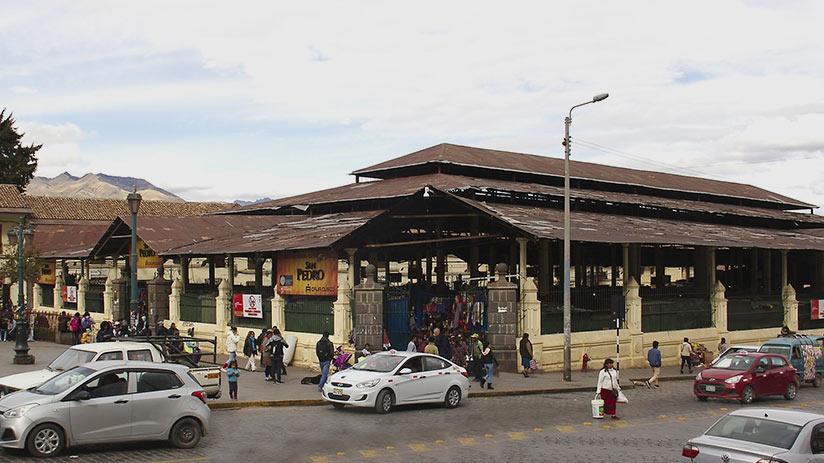 cusco tourist map san pedro market