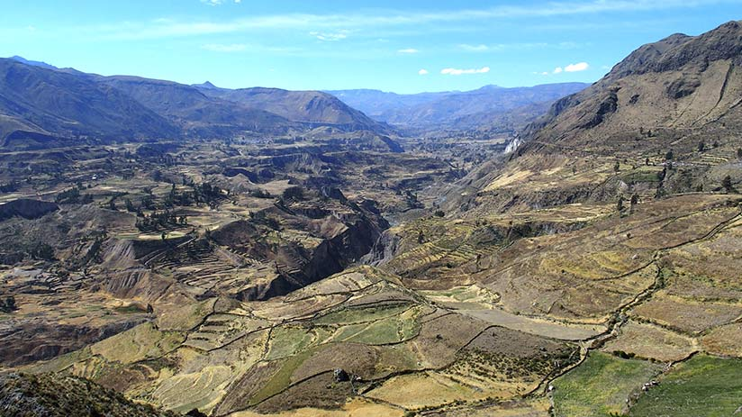 famous landmarks in peru colca canyon