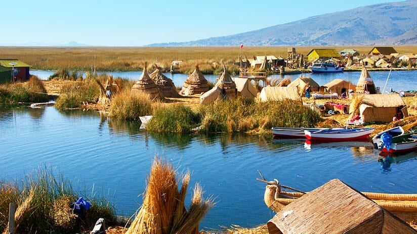 famous landmarks in peru lake titicaca