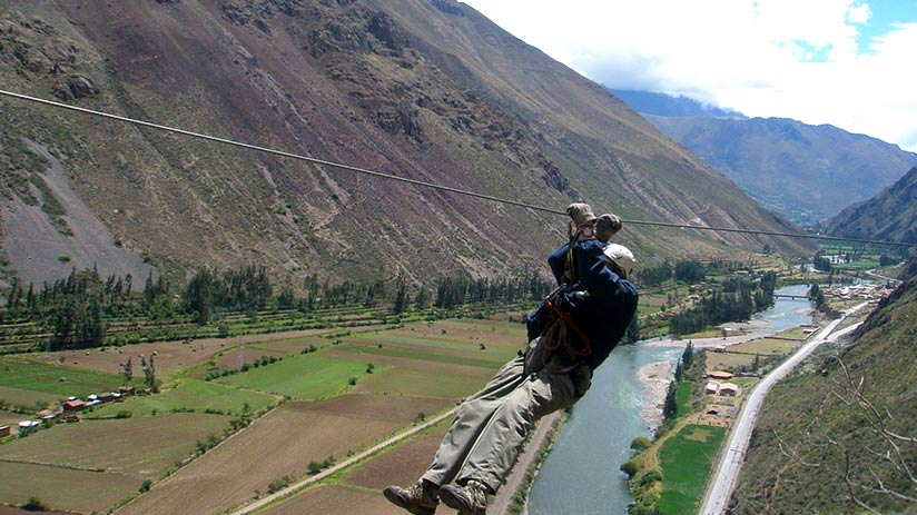peru with kids zipline sacred valley
