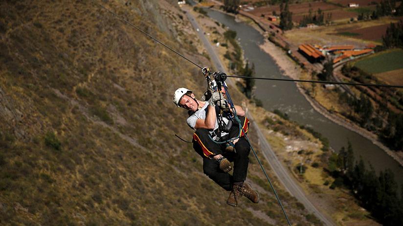 tourism in Peru zipline adventure