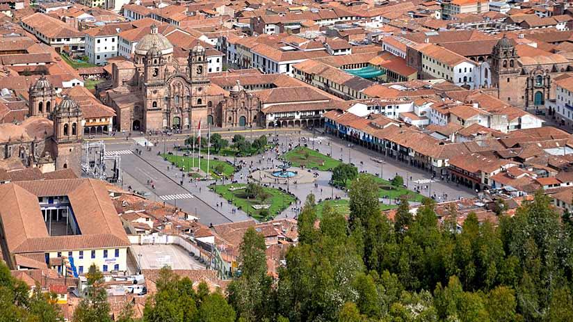 cusco main square contemporary times