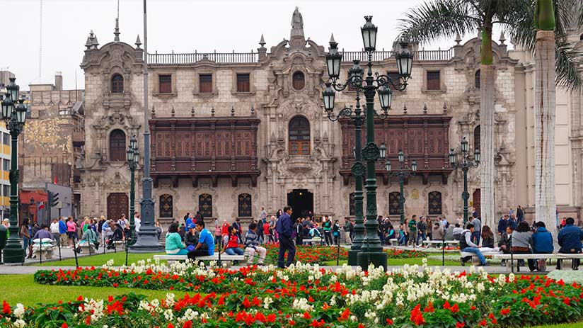plaza de armas in lima archbishop palace