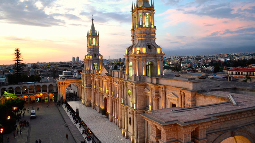 walking tour in arequipa the cathedral