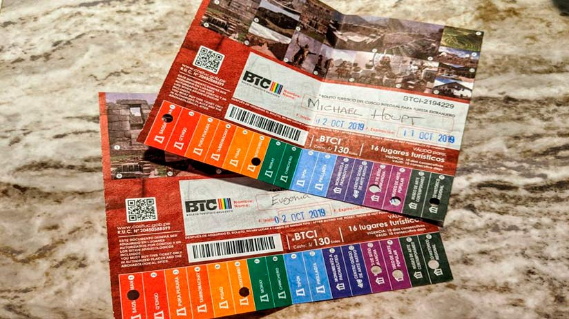 cusco sacred valley tourist ticket