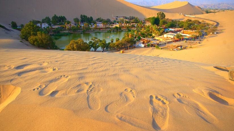 sand dunes in huacachina leyend of huacachina