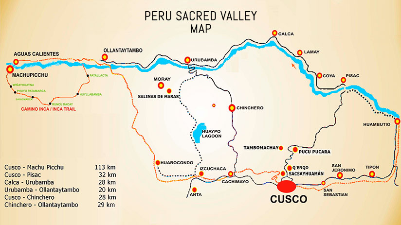 the sacred valley map