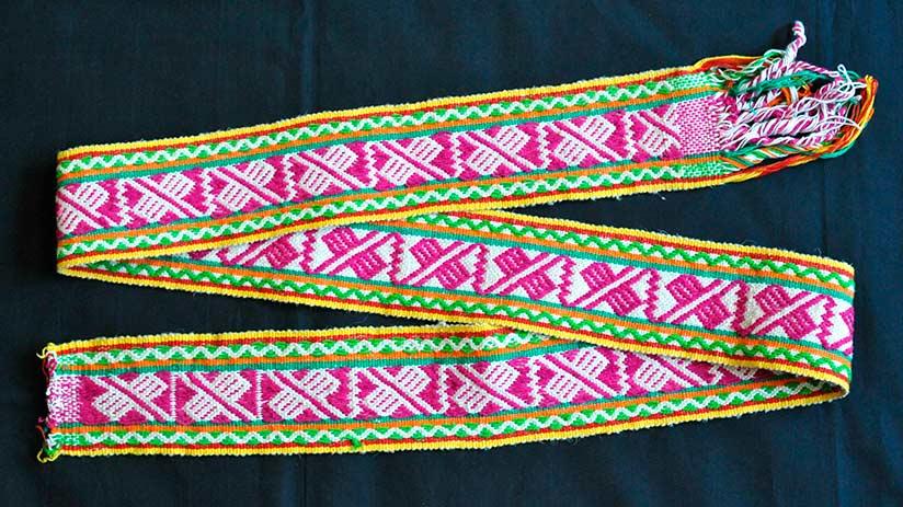 peruvian traditional clothes chumpi