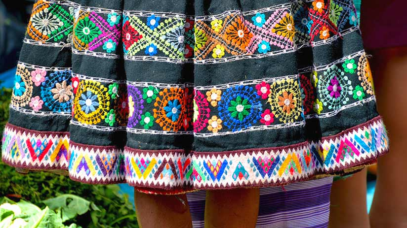 peruvian traditional clothes polleras