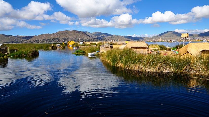 lake titicaca views in peru