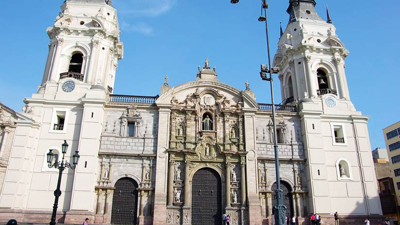lima cathedral within historic buildings