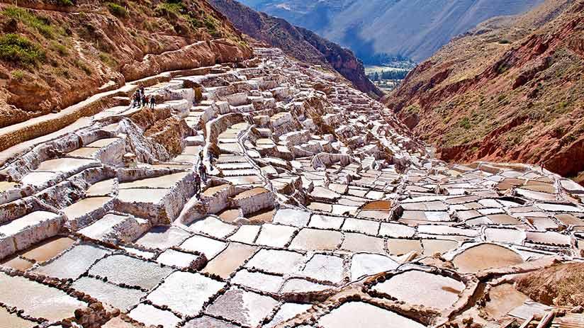 maras salt mines views in peru