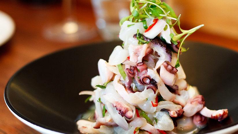 peruvian octopus ceviche