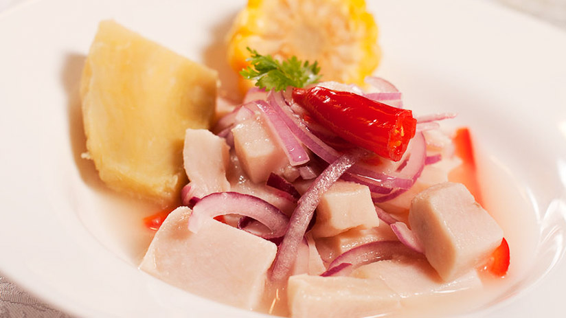 ceviche in peruvian seafood