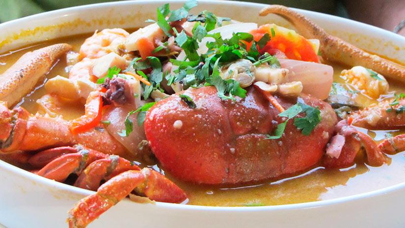 parihuela in the peruvian seafood