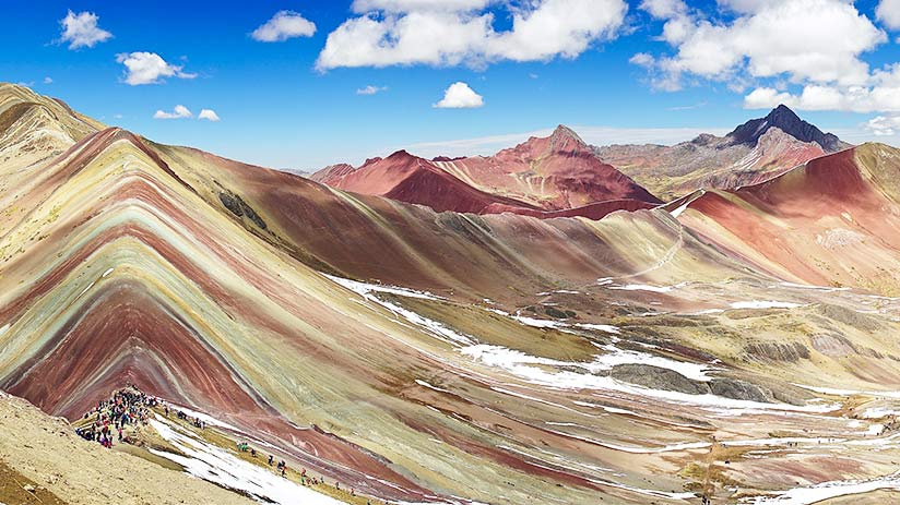 vinicunca mountain views in peru