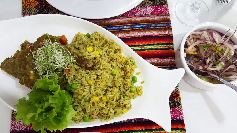 duck with rice traditional peruvian food