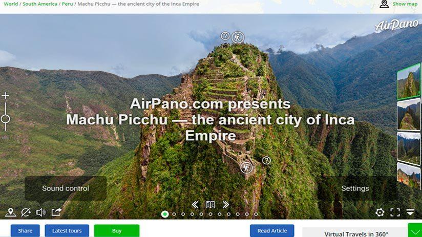 machu picchu virtual tour airpano