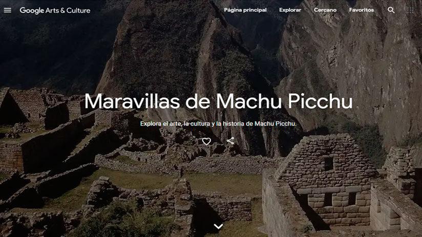 google arts and culture machu picchu virtual tour