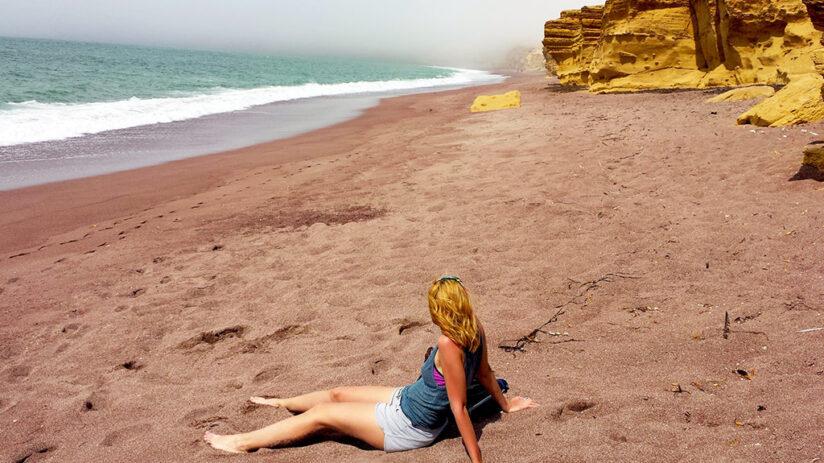 red beach beaches in peru
