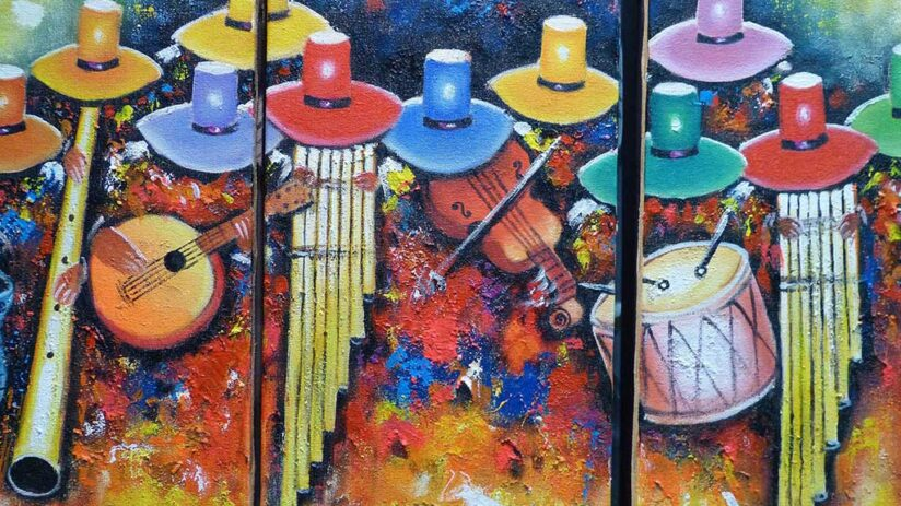 peruvian art craft paintings